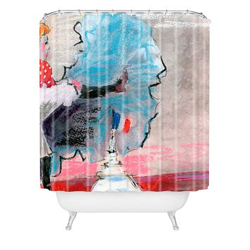 Ginette Fine Art The Last Time I Saw Paris 1 Shower Curtain