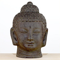 Terracotta Buddha Head | Decorative Accessories| Home Decor | World Market