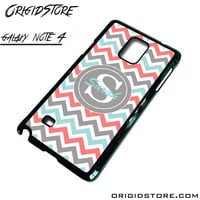 Chevron Tiffany Blue Coral Type Your Name Case For Samsung Galaxy Note 4 Case