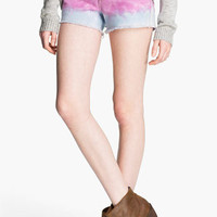STS Blue Studded Tie Dye Cutoff Shorts (Juniors) | Nordstrom