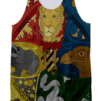 Hogwarts Crest Tapestry Full Color Tank Top Full Print
