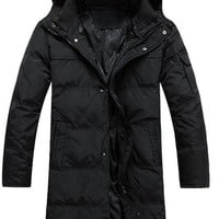 Winter Long Trench Coat with Hood