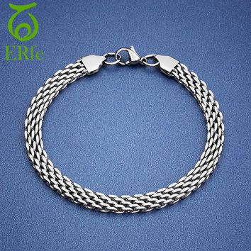 ER 2018 Male Punk Tennis Bike Chain Bracelet Men Stainless Steel Braslet Simple Braclet Women Hand Wristband MB007