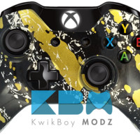 Splatter Gold Xbox One Controller