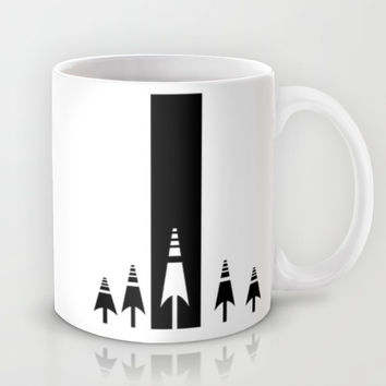 Black and white forest Mug by Limitation Free