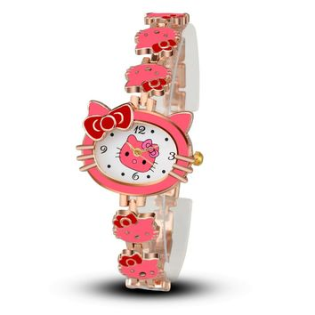 Pink Hello kitty Wristwatch Watche