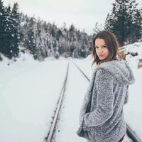 Fashion gray fur clothing coat