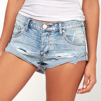 Bandits Light Blue Distressed Shorts
