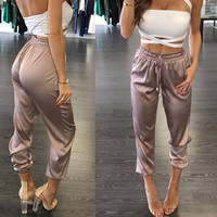 Silky Diane Cropped Trousers
