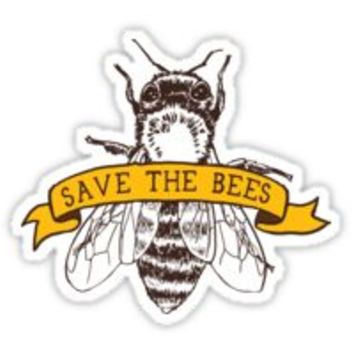 'Save The Bees!' Sticker by comfykindness