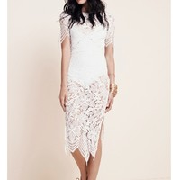 For Love & Lemons Luna Maxi Dress in White | Boutique To You