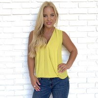 True To You Wrap Blouse in Yellow