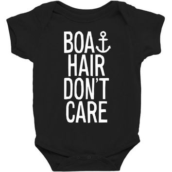 boat hair don't care Baby Bodysuit