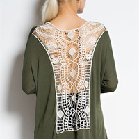 Trancoso Crocheted Top - Olive