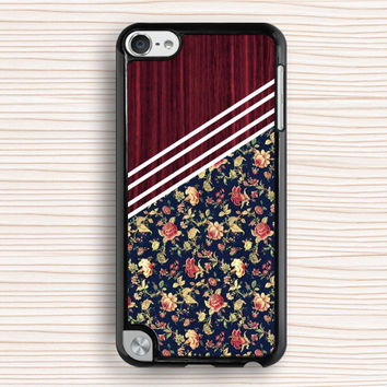 art floral ipod case,classical floral ipod 5 case,women's gift ipod 4 case,floral cloth ipod 5 touch case,beautiful floral ipod touch 4 case,classical flower touch 4 case,wood grain flower touch 5 case