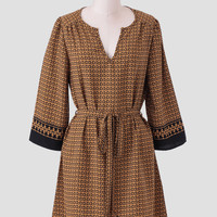 City Of Gold Printed Dress