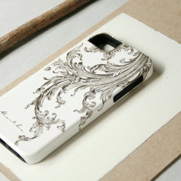 Sepia iPhone Case, Elegant Flourish iPhone 4 / 4S, iPhone 5,  iPod Touch
