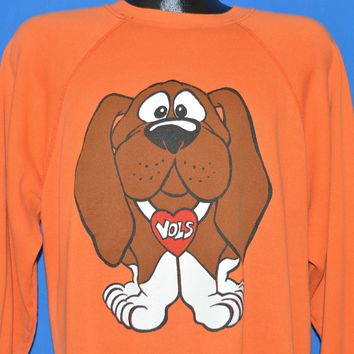 80s Tennessee Volunteers Smokey The Dog VOLS Sweatshirt Large