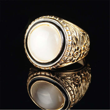 Fashion Casual Women Mens Moonstone Ring Vintage Handmade Jewelry Mens Girls Ring Unique Best Christmas Gift Rings-61