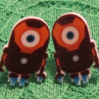 Iron Man Minion Inspired Iron Man Minion Stud Earrings Despicable Me Handmade New