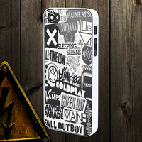 The xx, coldplay, arctic monkeys, the neighbourhood, sleeping with sirens ,The 1975 Band - iPhone and Samsung Galaxy Case , Protector Case.