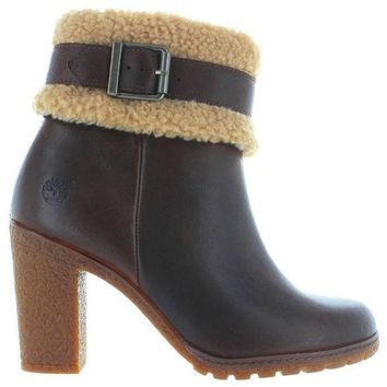 ONETOW Timberland Earthkeepers Glancy Teddy - Brown Leather Buckle Strap Bootie