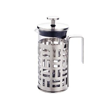 New Grid French Coffee Press Pot Coffee Plunger Tea Infuser Maker with Filter Glass Stainless Steel 350ml 600ml 1000ml Drinkware