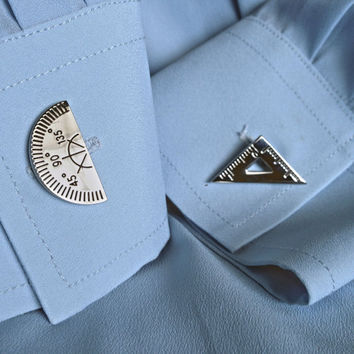 Architect Craftsman Cuff Links Steampunk Accessories for Men and Women Wedding Party Gift
