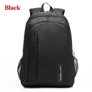 Cool Backpack school Hot Sale Cool Bell 15.6 inch Shockproof Laptop Backpacks Waterproof Oxford Schoolbags For Teenagers Women's Shoulder Bag L137 AT_52_3