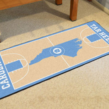 "UNC North Carolina - Chapel Hill Basketball Court Runner 30""x72"""