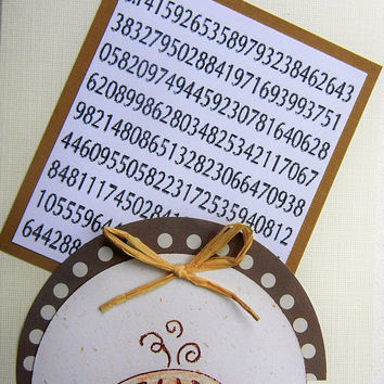 Pi Day Card - Celebrate March 14 with some Fun! Circle Design, Blank Card, Math Enthusiast