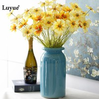 Luyue Artificial 46cm Cherry Blossoms Flowers Fake Silk Primrose Flowers For Wedding Garden Simulation Home Decoration