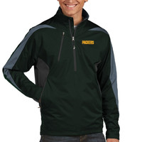 Green Bay Packers Antigua Discover Half Zip Pullover Jacket – Green