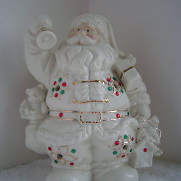 Vintage Ceramic Father Christmas Candle Holder