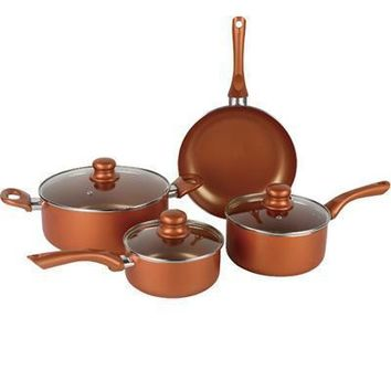 Induction Copper Cookware 7pc