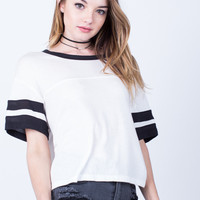 Double Striped Solid Tee