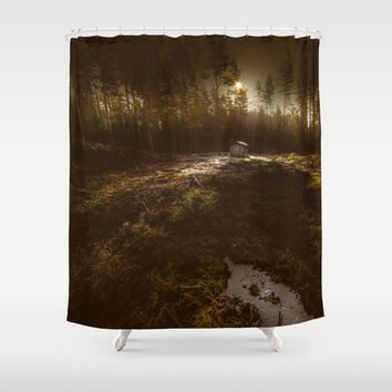 Cabin fever Shower Curtain by HappyMelvin