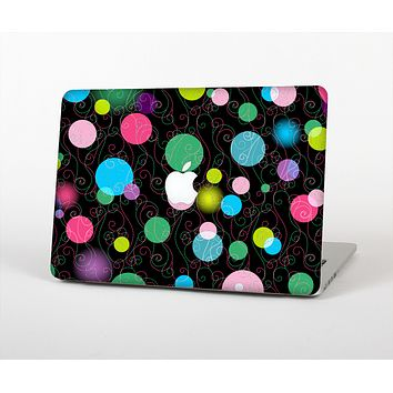 The Neon Colorful Stringy Orbs Skin Set for the Apple MacBook Air 13""