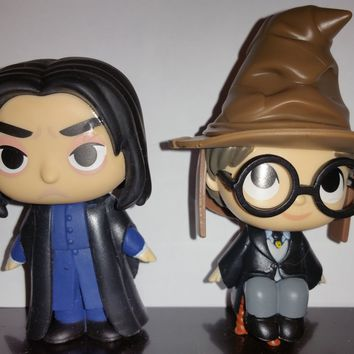 Professor Snape & Harry Potter with Sorting Hat Funko Mystery Minis Series 2