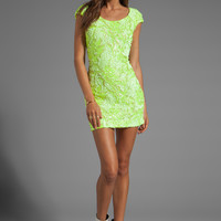 DRESS THE POPULATION x REVOLVE Exclusive Gabriella Dress in Lime from REVOLVEclothing.com
