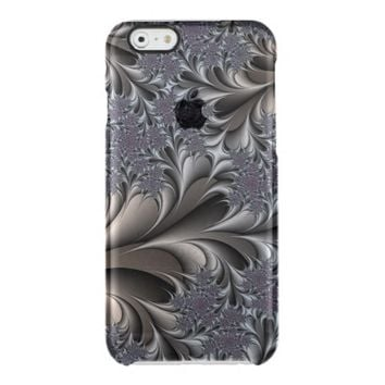 abstract fractal design clear iPhone 6/6S case