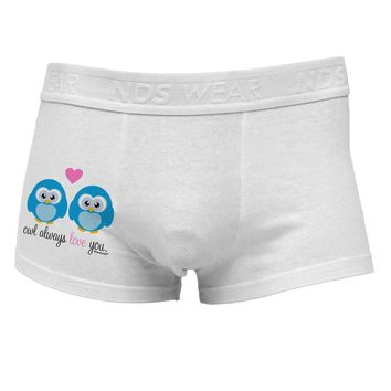 Owl Always Love You - Blue Owls Side Printed Mens Trunk Underwear by TooLoud