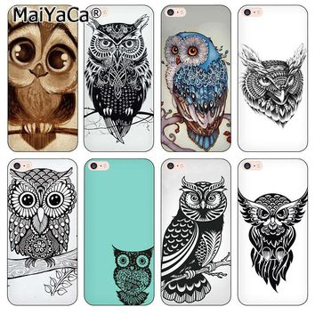 MaiYaCa Luxury Silicone soft phone accessories cover for iPhone 5s Cute Owls Soft TPU Silicone Case For iPhone 5 5s SE Case