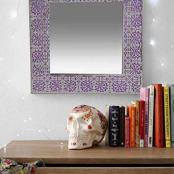 Plum & Bow Etched Mirror- Silver One