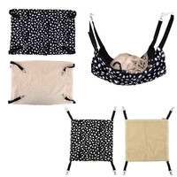 Polk Dot Polyester Rat Rabbit Chinchilla/Cat Cage Hammock Small Pet Dog Puppy Bed Cover Bag Blankets Mascotas Cachorro Honden
