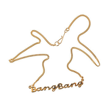 BANG BANG Necklace-Gold Plated Silver | Maria Nilsdotter