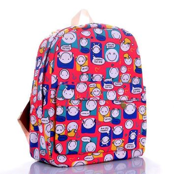 Hot Deal Comfort Stylish Back To School College Casual On Sale Cartoons Print Korean Lovely Backpack [9266407500]