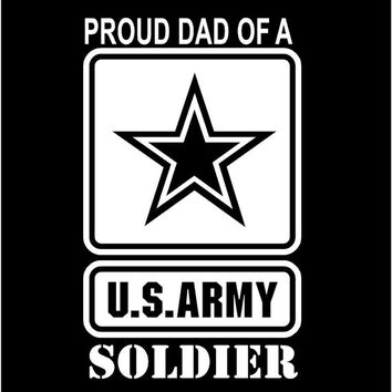 Us army proud mom proud dad vinyl decal car truck auto vehicle window custom sticker united