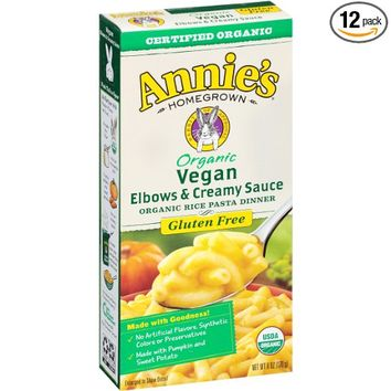 Annie's Vegan Elbows and Creamy Sauce, Mac/Cheese, 6 Ounce (Pack of 12)