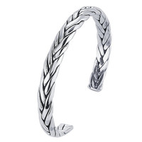 Sterling Silver Woven Cuff   Bracelet Custom Made
